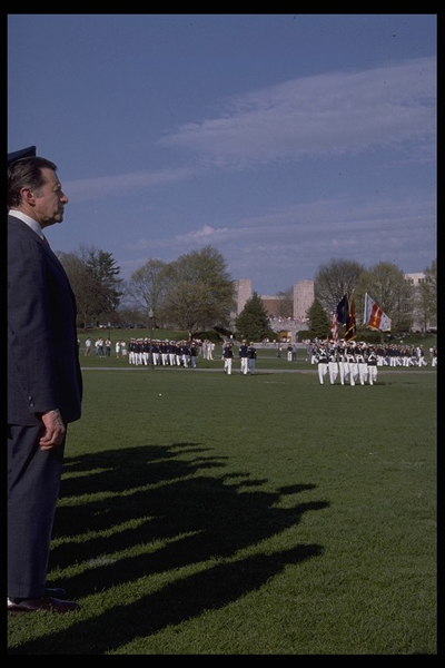 Casper Weinberger, Secretary of Defense, at Founders Day 1986