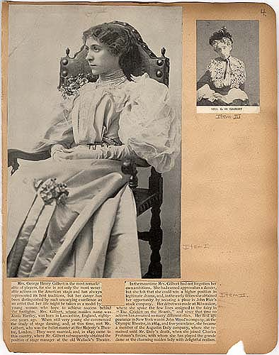 """Catherine"" review of Mrs. G. H. Gilbert in Theater Scrapbook Two, page 4"