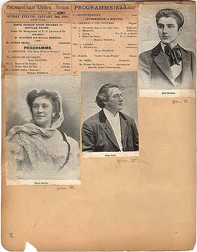 Metropolitan Opera House performance in Scrapbook 2, page 5