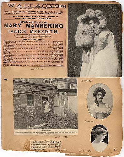"""Janice Meredith"" in Theater Scrapbook Two, pg. 8"