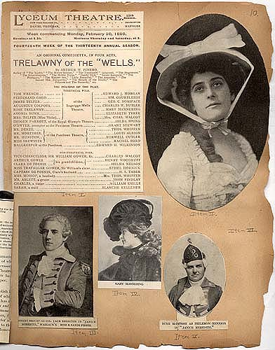 """Trelawny of the ""'Wells'"" in Theater Scrapbook Two, pg 10"