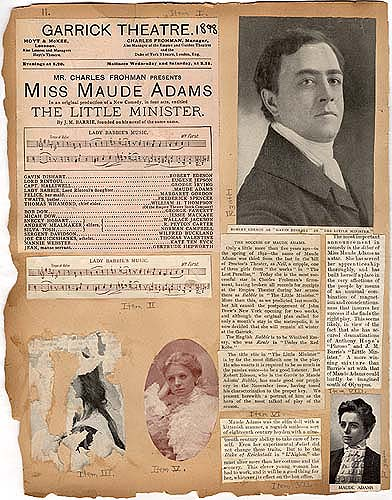 """The Little Minister"" in Theater Scrapbook, pg 11"