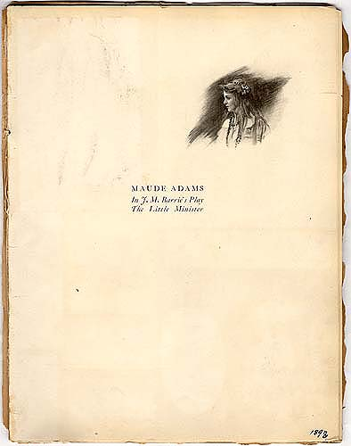 Maude Adams Souvenir Book in Theater Scrapbook Two, pg 13