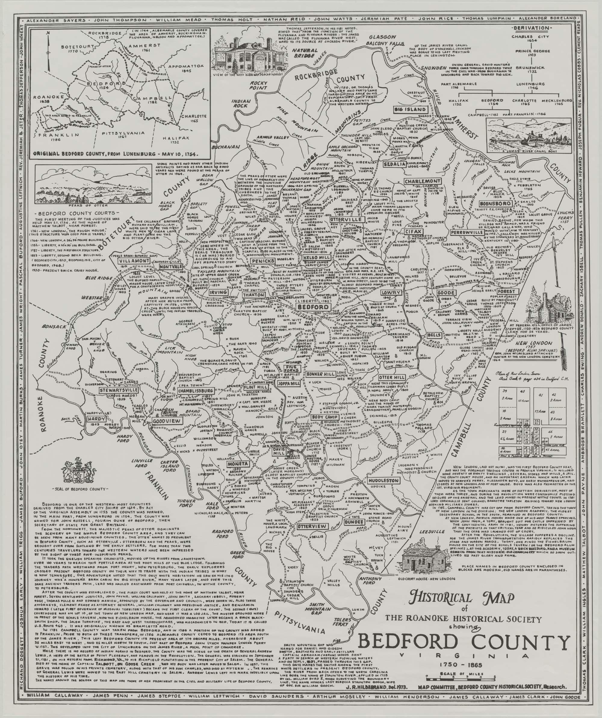 Map Of Virginia 1750.Imagebase