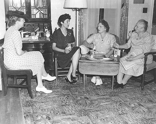 Mecklenburg Co., VA, Miss Ricks, Miss Wills, HDA, in the home of Mrs. Walker, an HDC leader