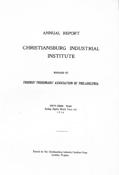 [p. 03] 1916 Annual Report Title Page