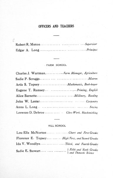 [p. 06] 1916 Annual Report Officers and Teachers
