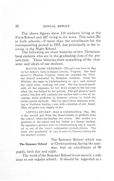 [p. 10] 1916 Annual Report