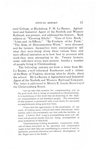 [p. 13] 1916 Annual Report