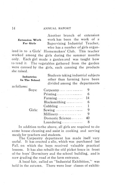 [p. 14] 1916 Annual Report