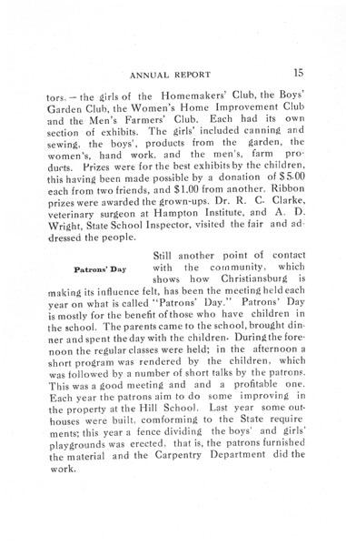 [p. 15] 1916 Annual Report