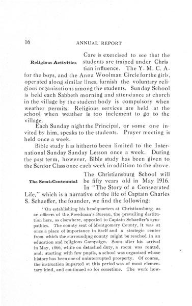 [p. 16] 1916  Annual Report