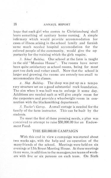 [p. 18] 1916 Annual Report