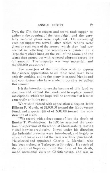 [p. 19] 1916 Annual Report
