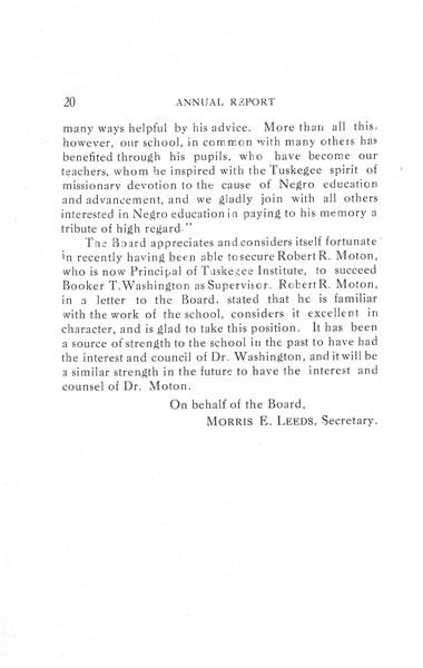 [p. 20] 1916 Annual Report