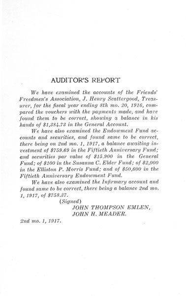 [p. 29] 1916 Annual Report - Auditor's Report