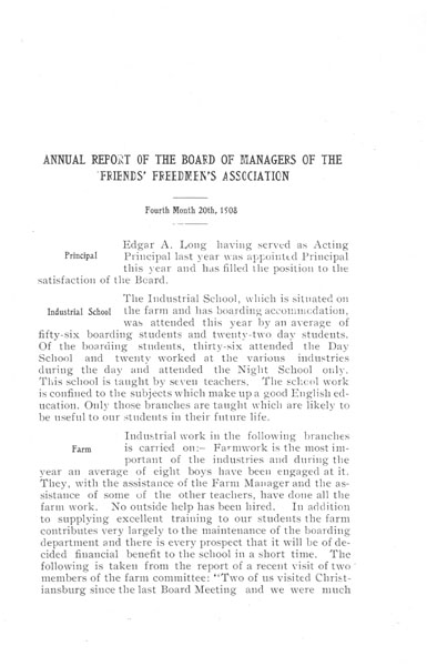 [p. 04] 1908 Annual Report