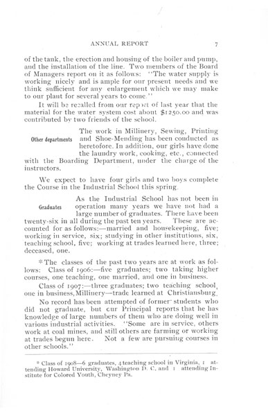 [p. 07] 1908 Annual Report
