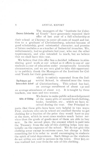 [p. 08] 1908 Annual Report