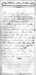 Pittenger Civil War Diary, February 25, 1863