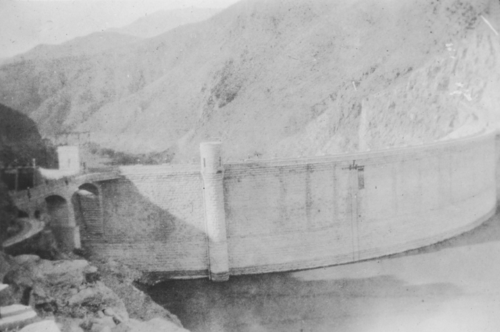 Dam on unidentified river