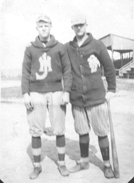 Athletes at Va. Tech.  Henry F. Turner on left