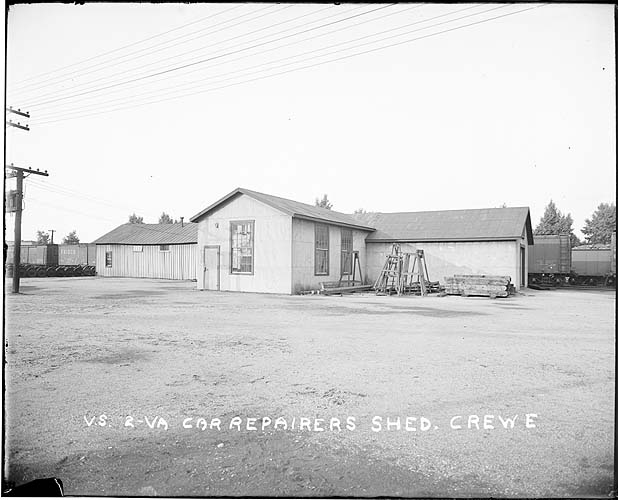 Car Repairer's Shed, Crewe, Virginia; Norfolk District