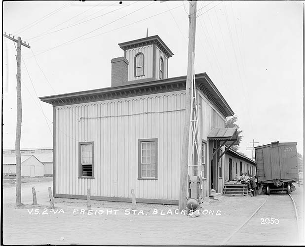 Freight Station, Blackstone, Virginia; Norfolk District