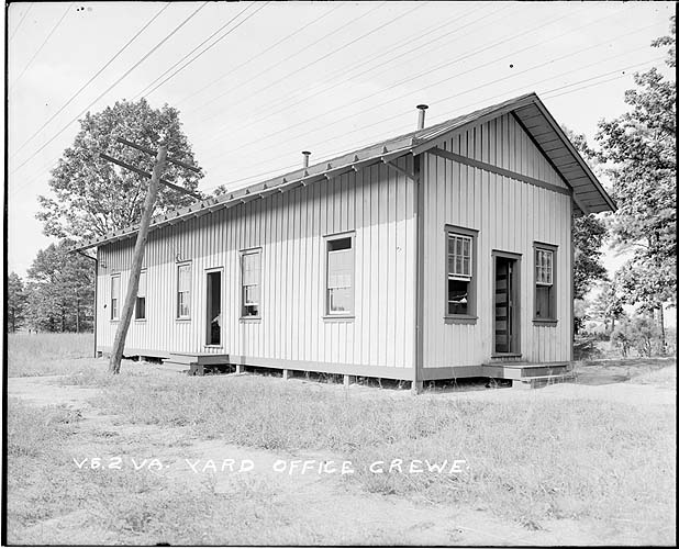 Yard office, Crewe, Virginia; Norfolk District