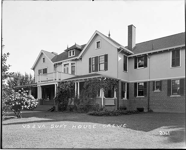 Superintendent's house, Crewe, Virginia; Norfolk District