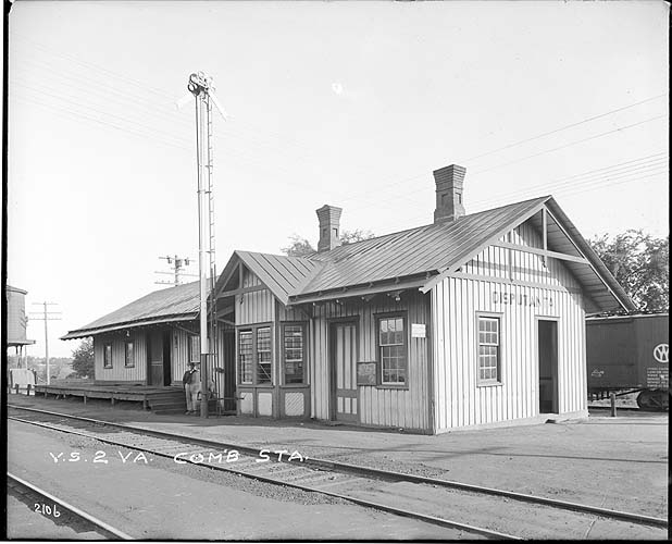 Combination station, Disputanta, Virginia, Norfolk District