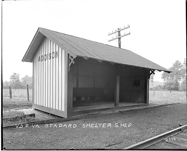 Shelter shed, Addison, Virginia; Norfolk District