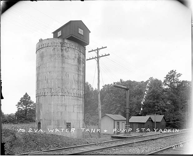 Water tank, Yadkin, Virginia; Norfolk District